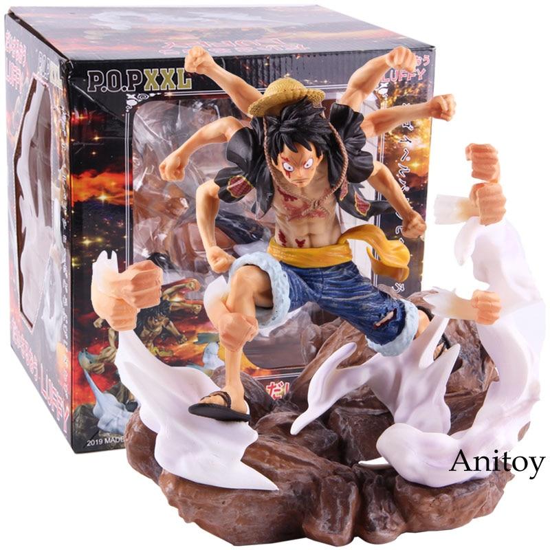 Anime One Piece P.O.P XXL singe D Luffy Gomu Gomu No Gatling Ver. Jouet de collection en PVC une pièce Luffy