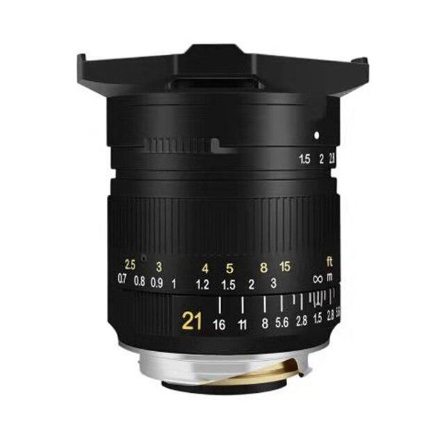 Ttartisan 21mm f1.5 lente de foco manual da fama completa da câmera para leica m montagem câmera leica M M m240 m3 m6 m7 m8 m9 m9p m10