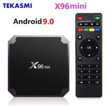 TEKASMI X96mini الذكية أندرويد 9.0 صندوق التلفزيون Amlogic S905W رباعية النواة 2GB 16GB واي فاي H. 265 مشغل الوسائط X96 جهاز استقبال صغير