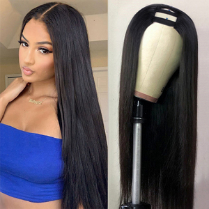 Image 4 - Mstoxic 13×4 Lace Front Human Hair Wigs Brazilian Straight U Part Human Hair Wig 4x4 Closure Wig Remy Hair 360 Lace Frontal Wig