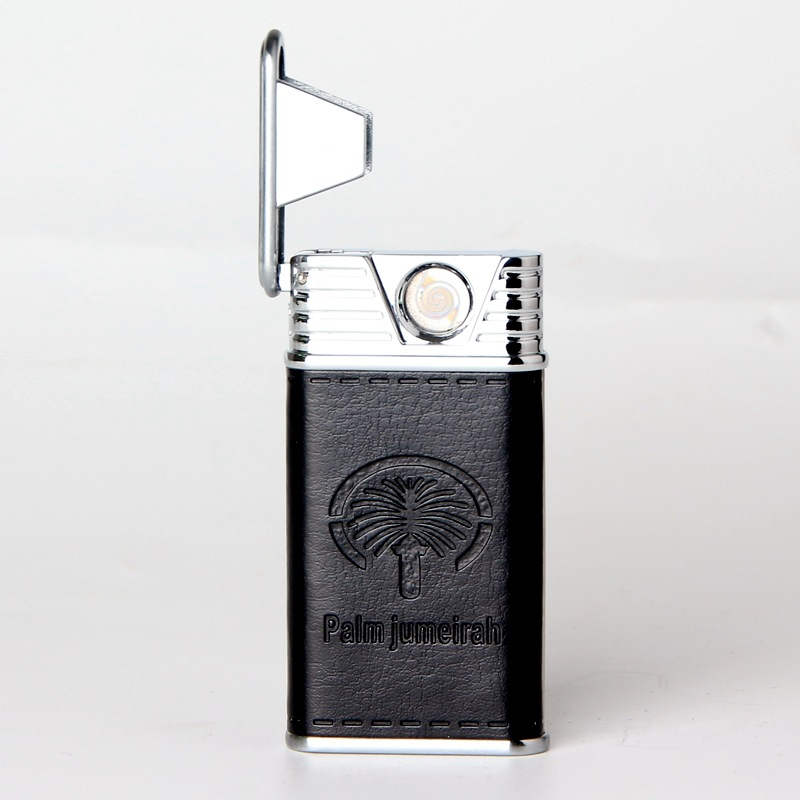 Кожаная двухсторонняя зажигалка с узором paml jumeirah индивидуальная