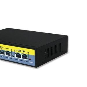 Image 4 - 6 Port Ethernet Switch 48V 96W Mit 4 Port POE + 2 UPlinks 100 Mbps Schalter interne Backplane Bandbreite 1,2G Full duplex