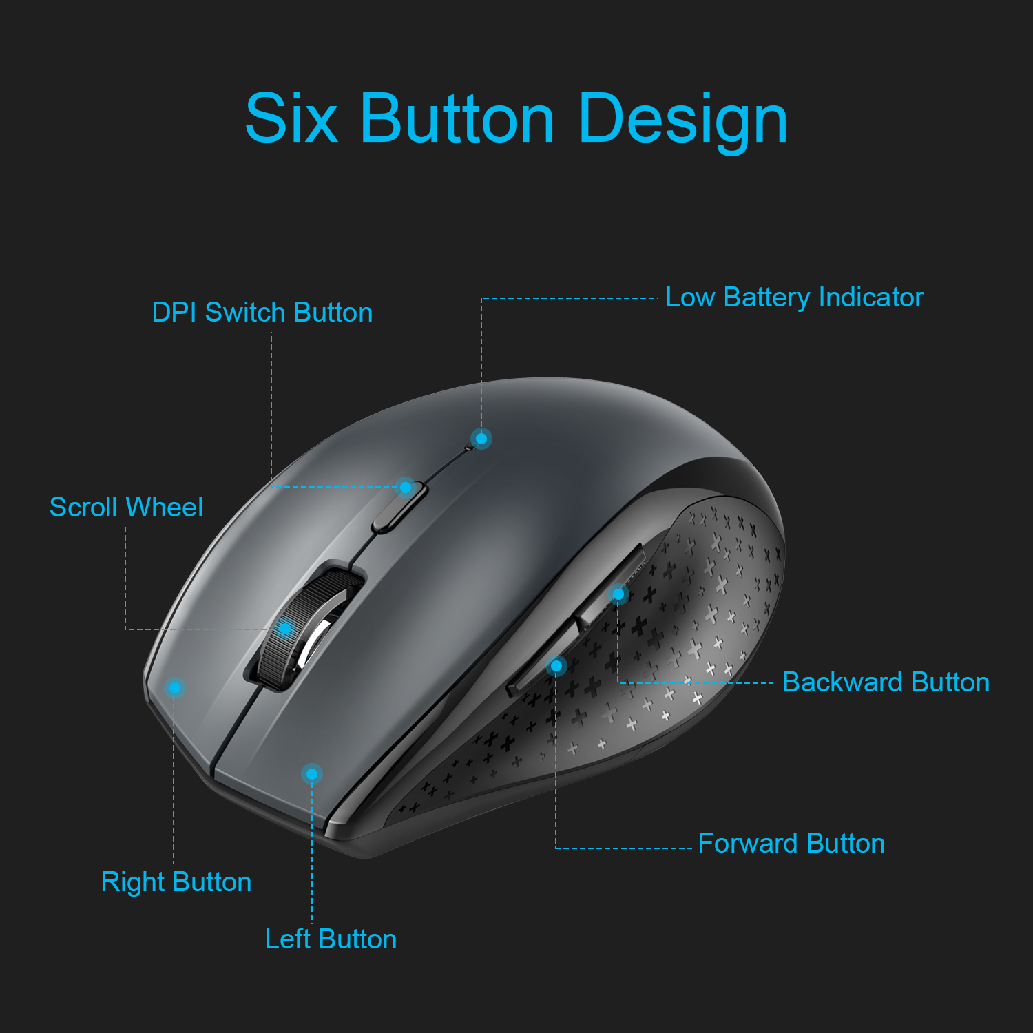 TeckNet Bluetooth Wireless Mouse Ergonomic 2 4GHz Computer Mice 3000 2000 1600 1200 800 DPI for
