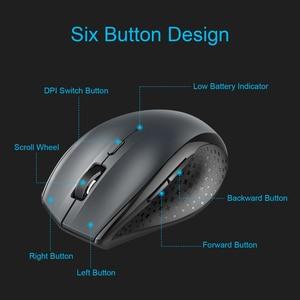 Image 5 - TeckNet Bluetooth Wireless Mouse Ergonomic 2.4GHz Computer Mice 3000/2000/1600/1200/800 DPI for Windows Laptop Notebook PC