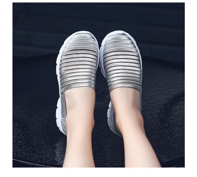 Women Flats Shoes Woman Loafers Slip-ons Platform Ballet Sneakers (23)