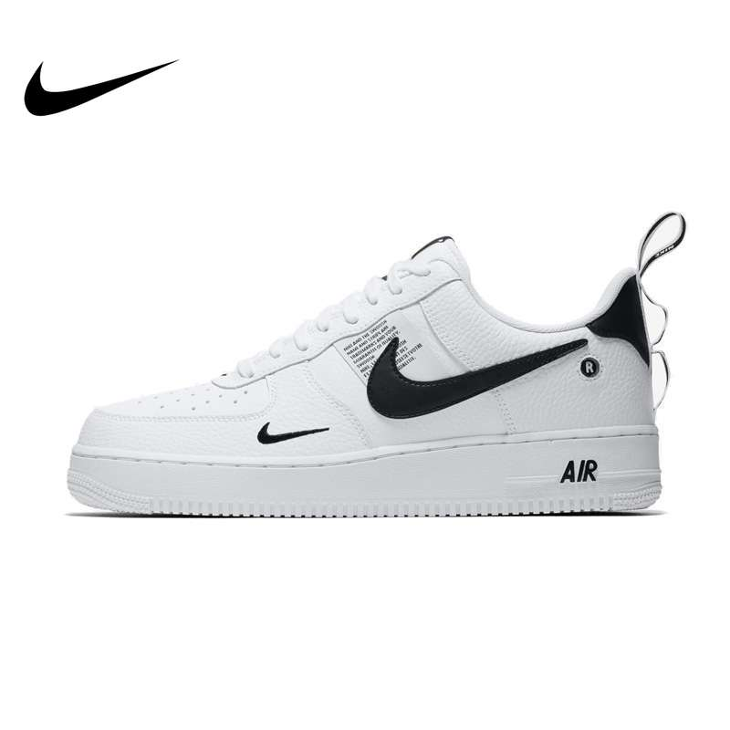 Nike Air Force 1 Men's Skateboarding Shoes Leather AF1 Comfortable Outdoor Sports Sneakers AJ7747-100 Hot Sale