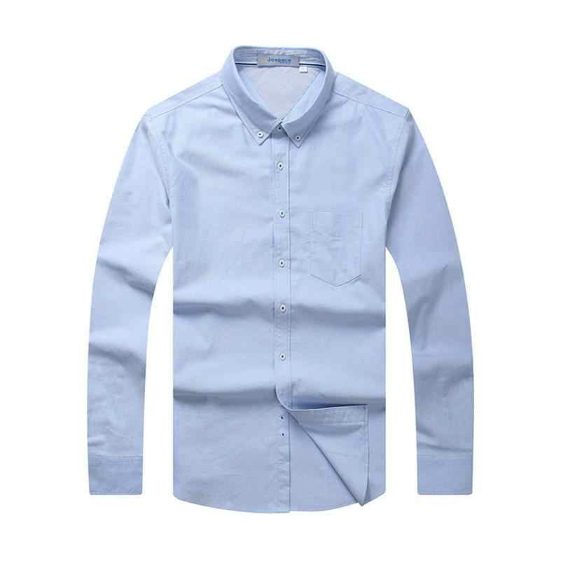 Grande Formato 8XL 7XL 6XL 5XL Uomini di Marca Casual Camicia Solid Manica Lunga Del Collare Del Cotone di Lino Bel Colore Popolare Disegni slim Fit