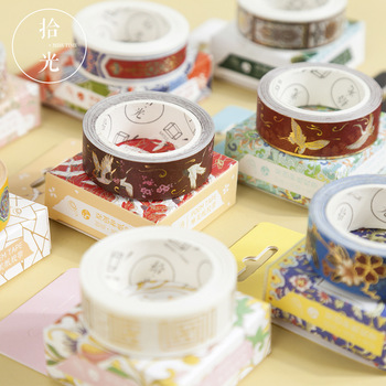 20 pcs/lot DIY Japanese Paper Decorative Adhesive Tape Flower room series Hot stamping Washi Tape/Masking Tape Stickers фото