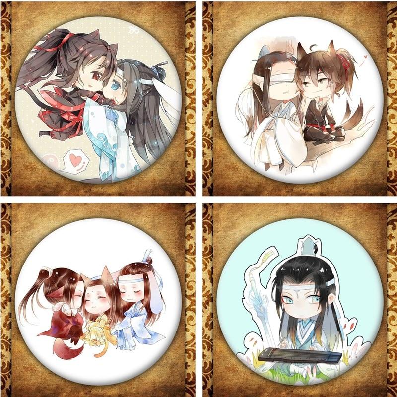 Anime Mo Dao Zu Shi Display Badge Fashion Cartoon Figure Mo Dao Zhu Shi Wei Wuxian Bags Brooches Pins