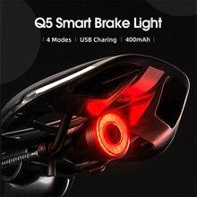 400 мАч водонепроницаемый задний велосипедный светильник usb