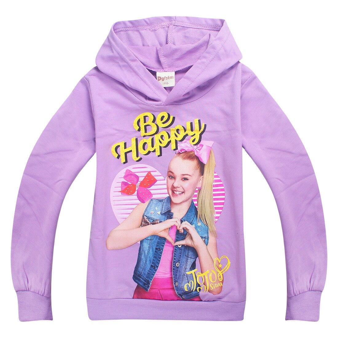 JOJO siwa/зимняя одежда с длинными рукавами для маленьких девочек; детская футболка; модные комплекты; детская забавная одежда; рубашка; пальто
