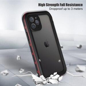 Image 3 - Odporny na wstrząsy podwodny futerał na iPhone 11 Pro Case wodoodporny pyłoszczelny silikonowy pokrowiec na iPhone 11 Pro Max etui na telefon