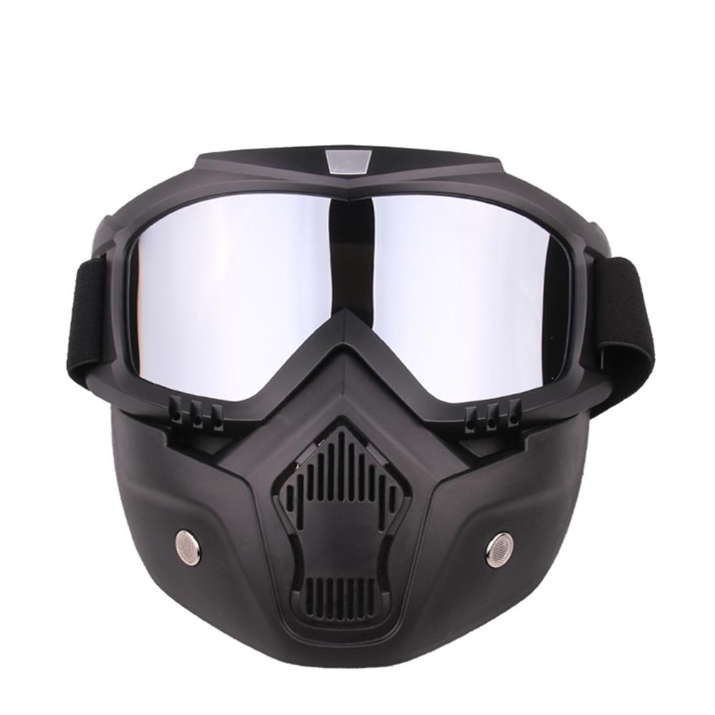 Winter Outdoor Cycling Skiing Snowboard Goggles Glasses Snowmobile Motocross Windproof Face Mask Helmet