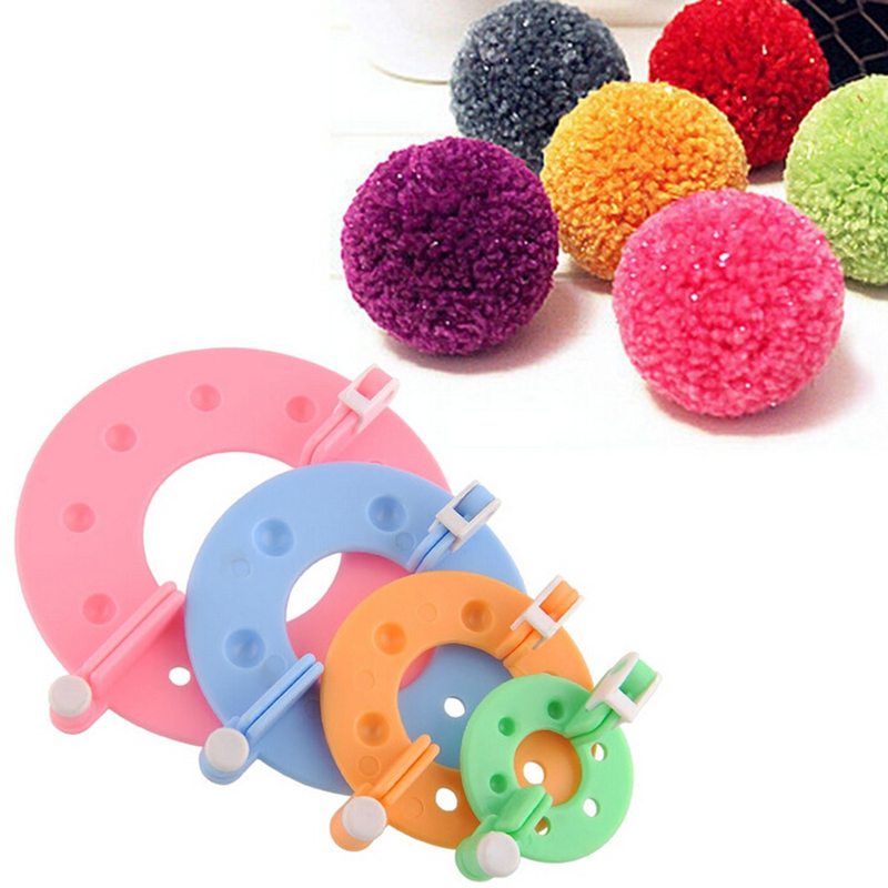 New 4/8Pcs Pompom Maker Kit DIY Knitting Crafts Different Sizes Plush Ball Making Tool 3.5/5.5/7/9cm