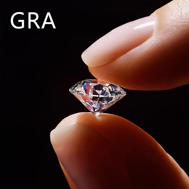 100% Real Loose Gemstone Moissanite Diamond CVD Lab Grown 0.5ct D Color VVS1 Round For Jewelry Ring Bracelet Making Wholesale