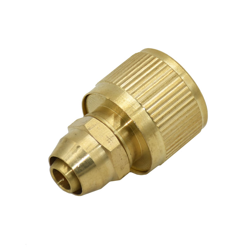 3/8 Inch Hose Quick Connector Brass Water Gun Adapter 10mm 8/11 Hose Connector Copper Fitting 1pcs