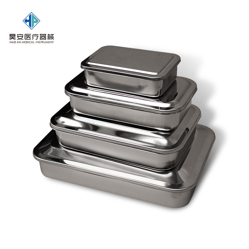 Stainless Steel With Cap Square Dish Disinfection Square Plate Apparatus With Tray Dental Anti-Iodine Fully Automatic Semi-autom