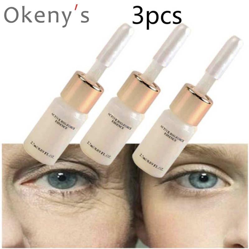 3 pces cuidados com os olhos produtos magia anti envelhecimento anti rugas lift líquido creme de rosto argireline soro ácido hialurónico Bronzeadores artificiais    -