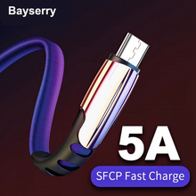 цена на 5A Micro USB Cable for Xiaomi Redmi Note 5 4 Micro USB Cable Fast Charging for Samsung S7 S6 J7 J5 Data Sync Transfer Cord Cable