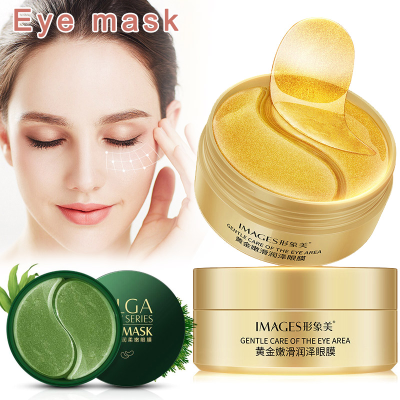 60Pcs Gold/Zeewier/black PearCollageen Eye Mask Gezicht Anti-Aging Rimpel Gel Patches Collageen Hydraterende Oog Masker Oogzorg