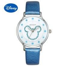 Disney оригинальные женские часы Микки часы женские корейские мода тренд водонепроницаемый кварцевые часы студент пояс MK-11174