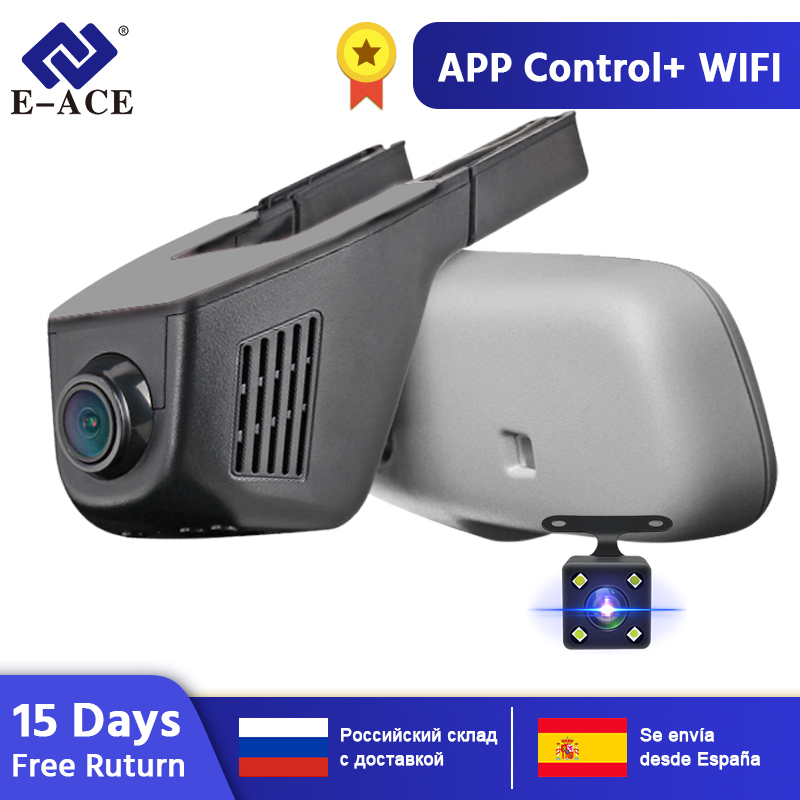 E-ACE Auto Dvr WIFI DVRs Dual Kamera Objektiv Registrator Dashcam Digital Video Recorder Camcorder Full HD 1080P 30FPS Nacht version