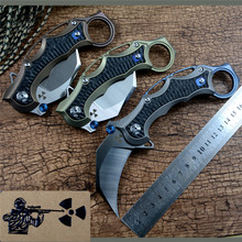 Jungle edge JR5221 Claw knife S35VN blade TC4 Titanium handle Folding Karambit Knives for outdoor camping hunting EDC