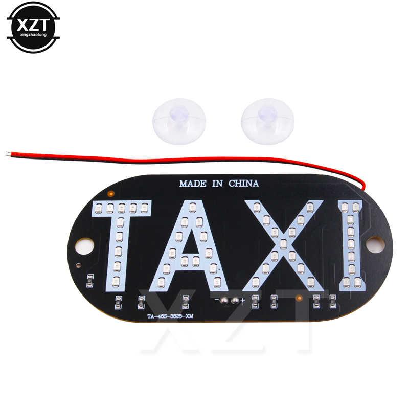 Moda basit 1 adet/toplu 12V taksi LED araç ön camı kabin gösterge ışığı LED cam taksi ışık