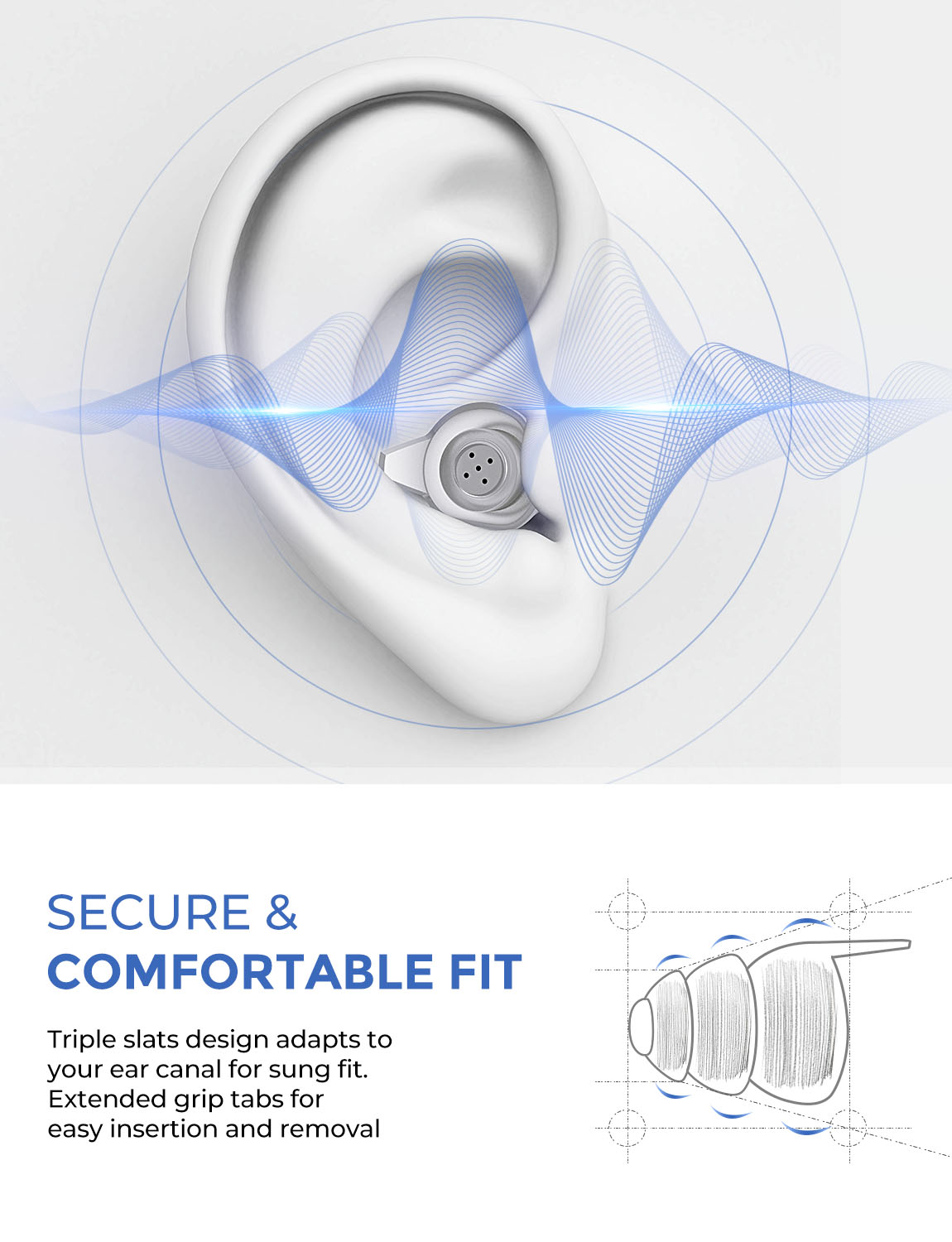 Image 3 - Mpow HP096 2Pairs High Fidelity Earplugs SNR 28dB/ NRR 24dB Noise Reduction Music Concert Ear Plugs With Carry Case For FestivalEar Protector   -