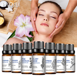 HIQILI Massage Rosemary Orange Essential Oil 10ML Diffuser Aroma Oil Sandalwood Vanilla Peppermint Lavender Patchouli Rose Lemon