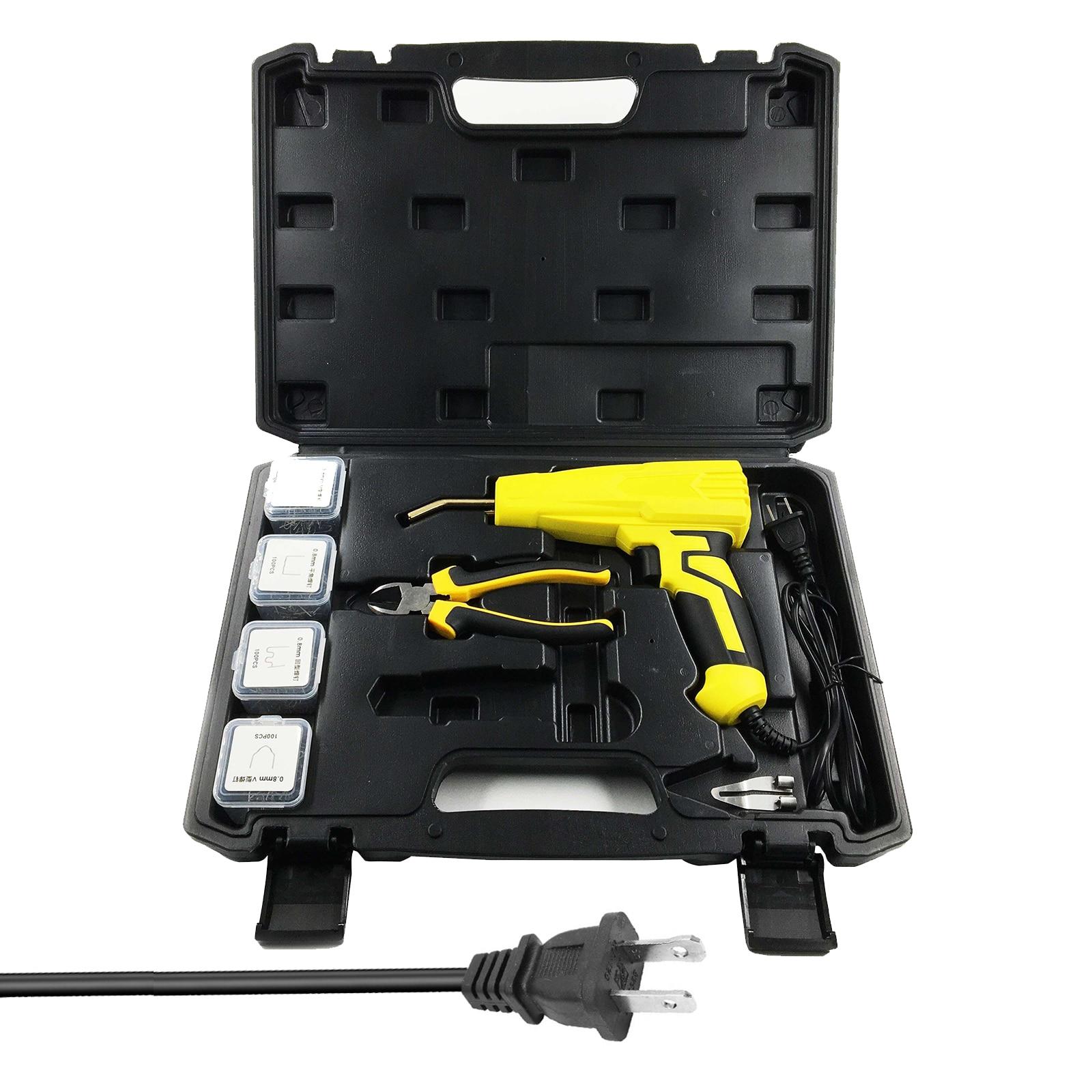 100W Portable Plastics Welding Machine Hot Staplers Plastics Welding Tools Repairings Tools Stapler Welding Tool