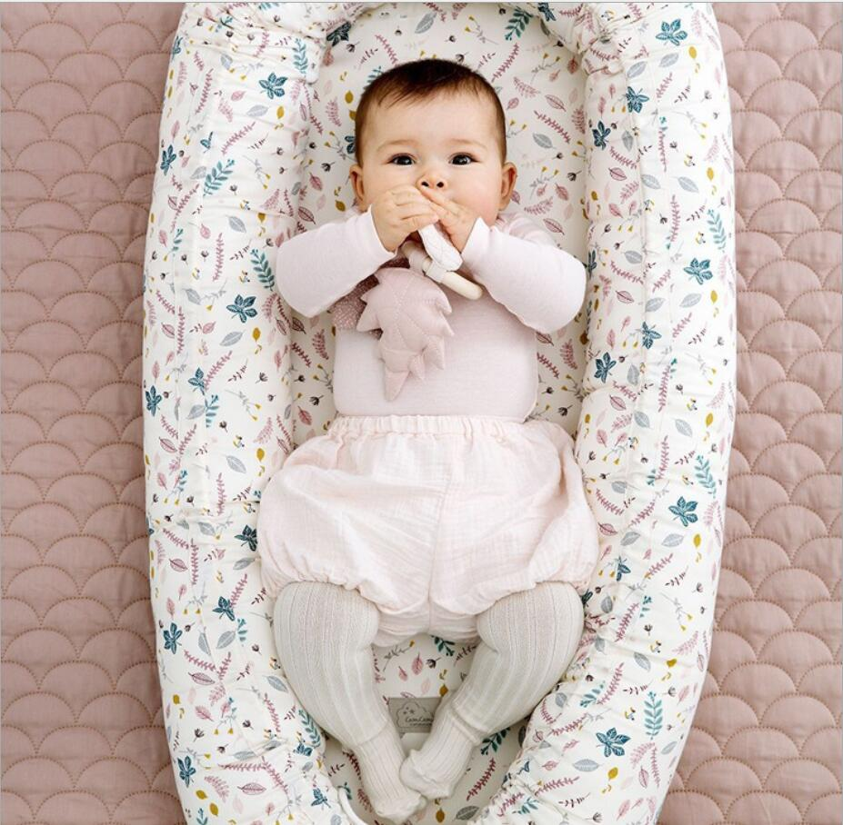 Portable Removable Baby Milk Sickness Bionic Crib Cot Travel Bed Pod