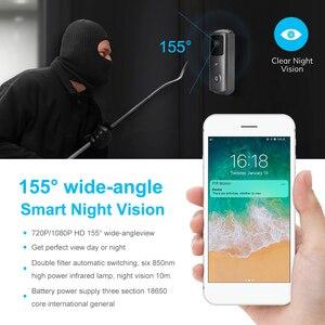 Image 4 - ZILNK sonnette de porte sans fil avec wi fi 1080P HD, interphone vidéo sans fil, caméra, moniteur pour maison intelligente, télécommande avec Vision nocturne infrarouge