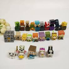 Mini poupées kawaii My world, blocs d'action minecra, animal Steve, poulet, dinosaure, monstre, Zombies, figurines anime, modèle, jouets, cadeau pour bébé