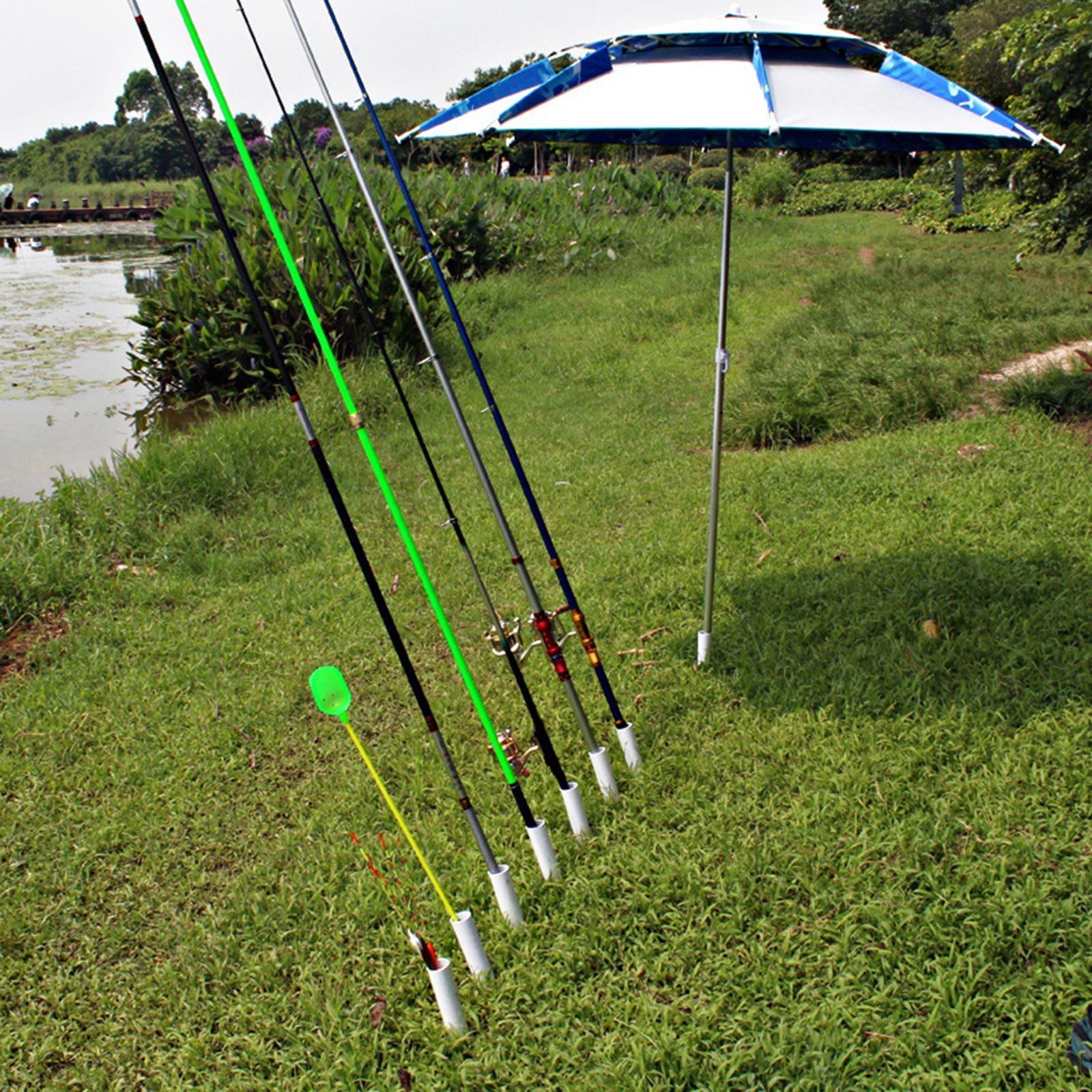 Fishing Rod Pole Holder Ground PVC Detachable for Shore Fishing Fishing