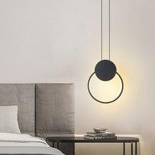 Modern Ring Led Pendant Light Bedside Lamp Living Room Restaurant Bedroom Coffee Commercial Home Decor Interior Lighting Fixture