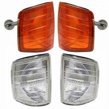 Левый и правый пара угловой светильник s для Mercedes Benz 190E W201 E200 E220 E230 E280 E320 передний указатель поворота угловой светильник 1982-1993