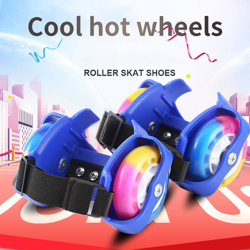 Children Heel Wheel Roller Skate Shoes Hot Wheels Sports Colorful LED Flashing Small Whirlwind Pulley Kids Flashing Light Wheels