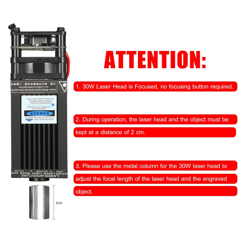 40W Laser Module Kit 448-462nm Continuous Laser Cutting Engraving Module Blue Light TTL Module Set For Laser Engraving Machine