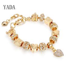 Yada подарки золотистые браслеты и обручи женский браслет дружбы