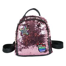 New Women Backpack School Bags For Girls Small Backpacks Female Travel Sequins