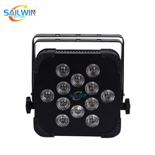 UK Warehouse Stock Rasha 25 Degree 12*18W 6IN1 RGBAW UV DMX512 Built in Wireless IRC LED Flat Par Can Wifi Stage Light  Remote