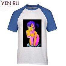 Summer Men's T-shirt Anime Z Sexy Girl Bulma Tshirt Men Black T Shirt Geek Hipster 100% Cotton Tshirts 3XL