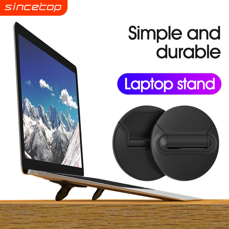 SinceTop Laptop <font><b>Stand</b></font> Mini Portable <font><b>Cooling</b></font> Pad for MacBook <font><b>Notebook</b></font> Skidproof Pad Cooler <font><b>Stand</b></font> for Laptop Mobile Phone Holder image