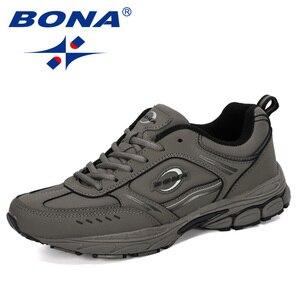 Image 5 - BONA 2019New tasarımcı koşu ayakkabıları erkekler spor inek bölünmüş Sneakers erkek atletik ayakkabı Zapatillas yürüyüş koşu ayakkabıları moda