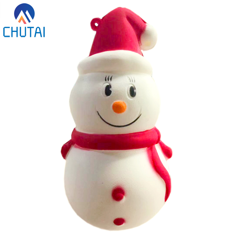 Cute Snowman Squishy Slow Rising Squeeze Toys Soft Stretchy Scented Stress Relief Toy Xmas Decor Gifts 9.5*5 CM
