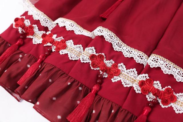 платье в стиле лолиты han element кружевное платье с квадратным фотография