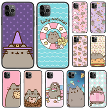 Cartoon Pusheen Cute Cat etui na telefony dla iphone 4 4s 5 5S SE 5C 6 6S 7 8 plus X XS XR 11 PRO MAX 2020 czarny zderzak art shell(China)
