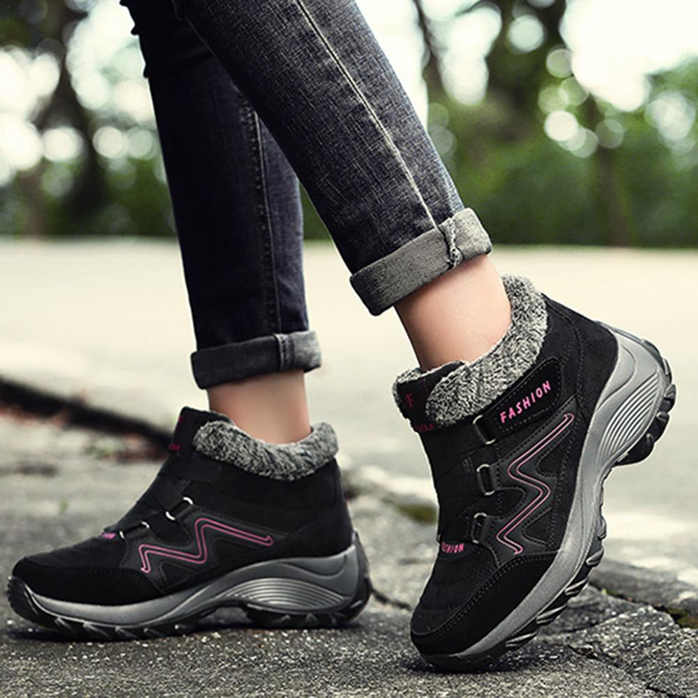 Sports Hiking Shoes Large Size Non slip Warm Women's Cotton