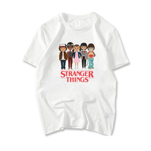 Stranger Things Printed Short Sleeve T shirt Summer Casual T-shirt For Women Unisex Girls Short-sleeve Tees Round Neck Tee Shirt цены